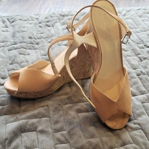Opened toe platform sandals